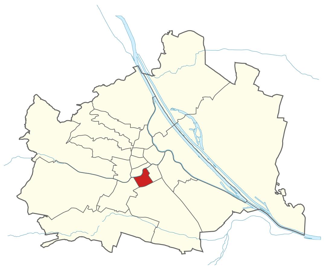 Karte von Wien mit Bezirken, Marschall - Ihr Immobilienmarkler für Luxusimmobilien in 1050 Wien Margareten