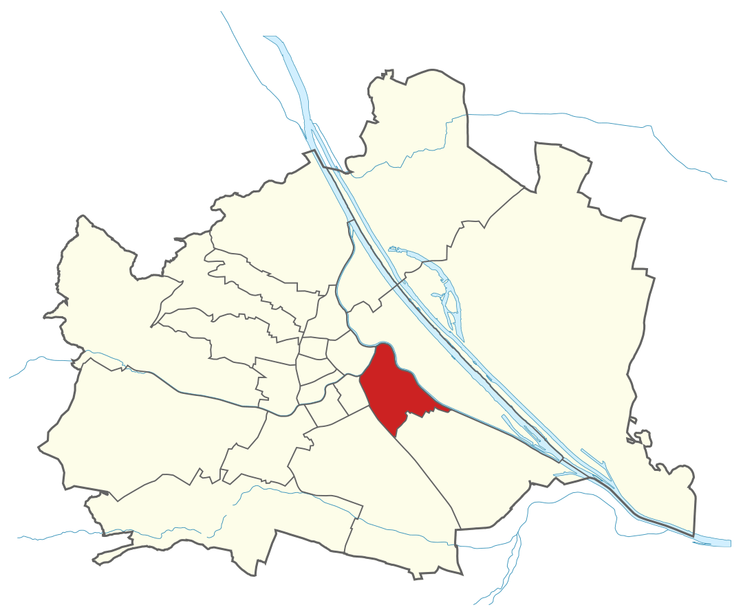 Karte von Wien mit Bezirken, Marschall - Ihr Immobilienmarkler für Luxusimmobilien in 1030 Wien Landstraße