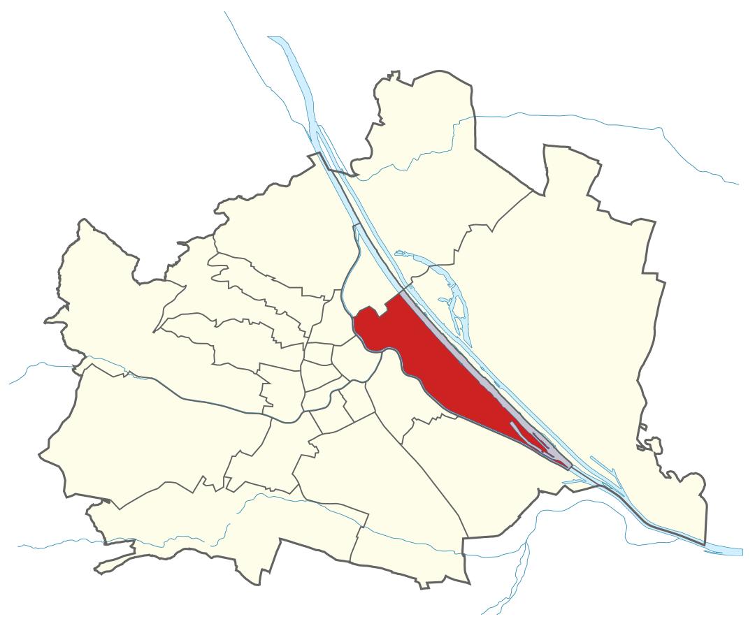 Karte von Wien mit Bezirken, Marschall - Ihr Immobilienmarkler für Luxusimmobilien in 1020 Wien Leopoldstadt