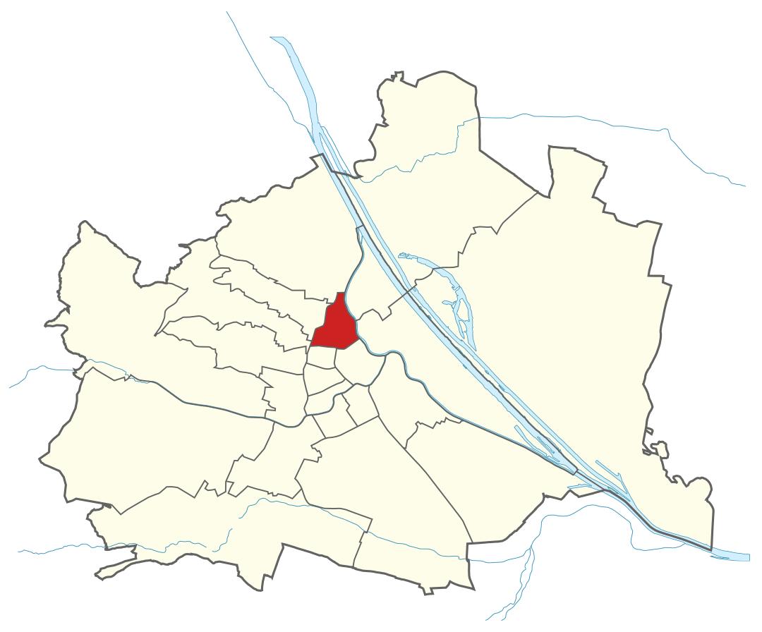 Karte von Wien mit Bezirken, Marschall - Ihr Immobilienmarkler für Luxuswohnungen in 1090 Wien Alsergrund