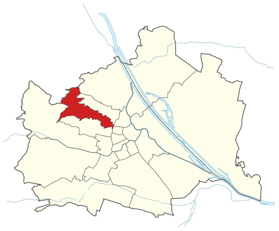 Karte von Wien mit Bezirken, Marschall - Ihr Immobilienmarkler für Luxushäuser in 1170 Wien Hernals