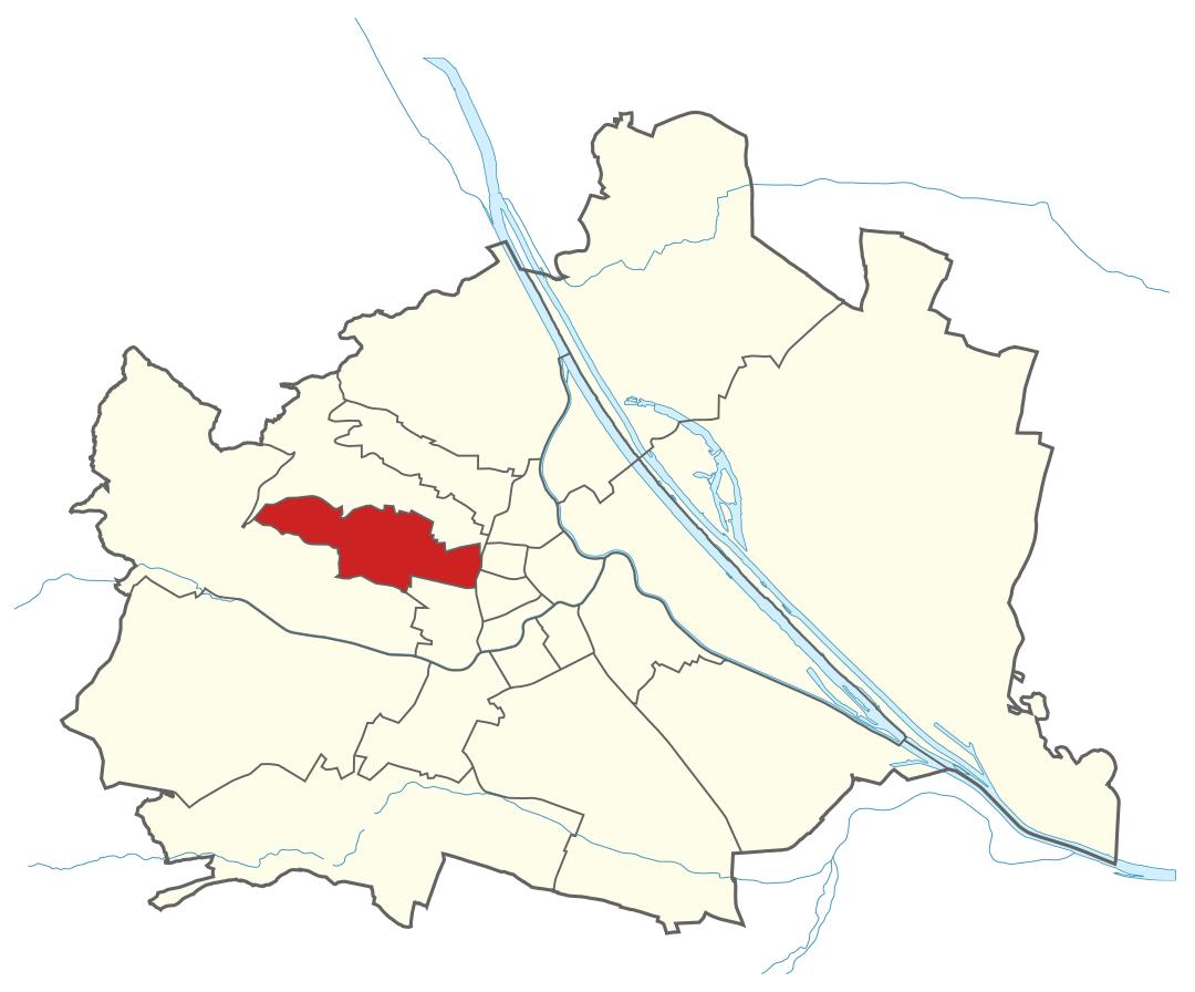 Karte von Wien mit Bezirken, Marschall - Ihr Immobilienmarkler für Luxusimmobilien in 1160 Wien Ottakring