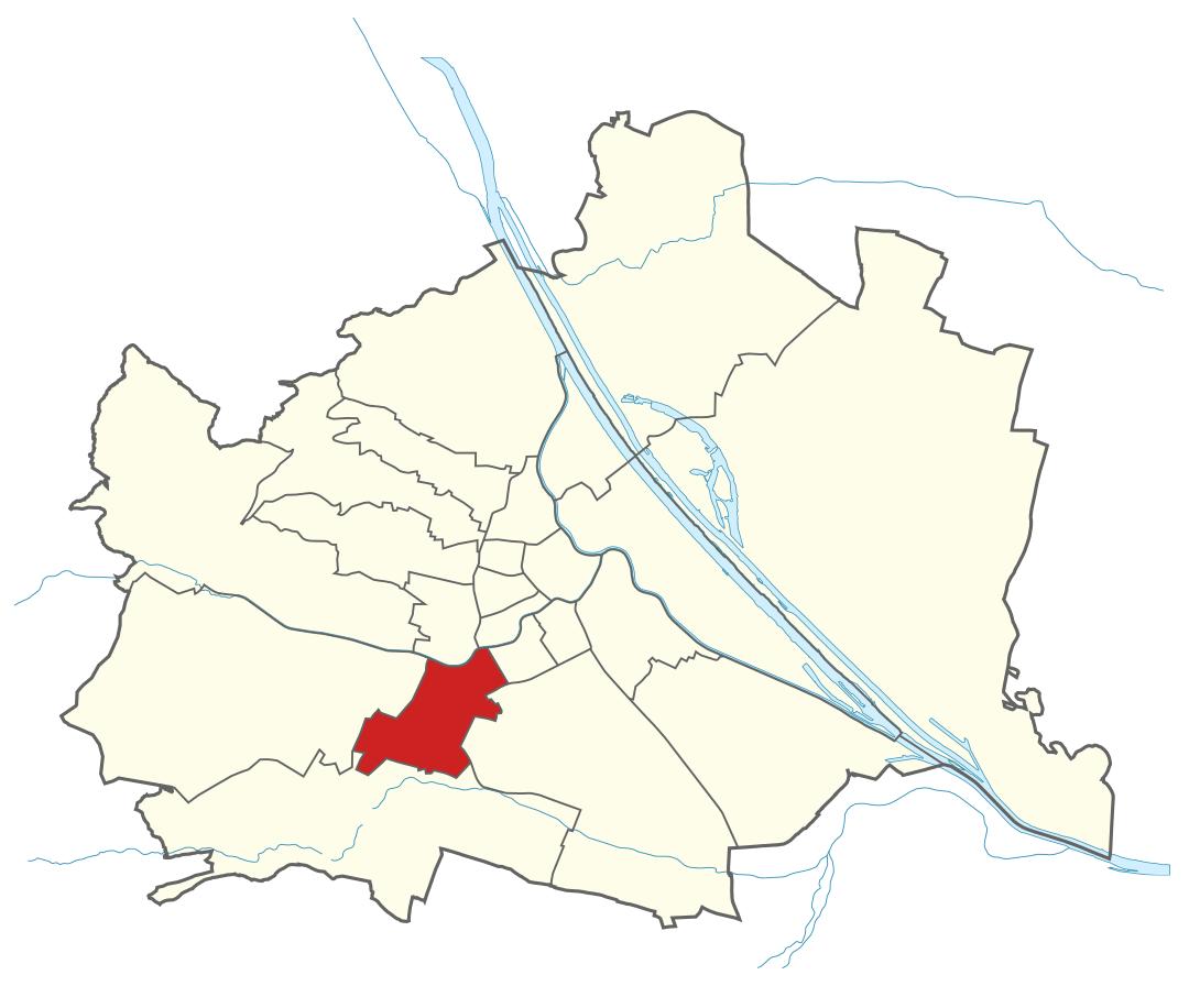 Karte von Wien mit Bezirken, Marschall - Ihr Immobilienmarkler für Luxusimmobilien in 1120 Wien Meidling