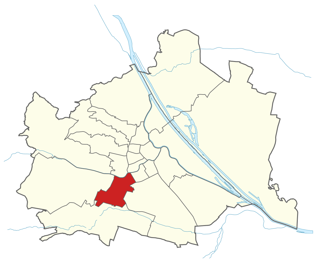 Karte von Wien mit Bezirken, Marschall - Ihr Immobilienmarkler für Luxushäuser in 1120 Wien Meidling