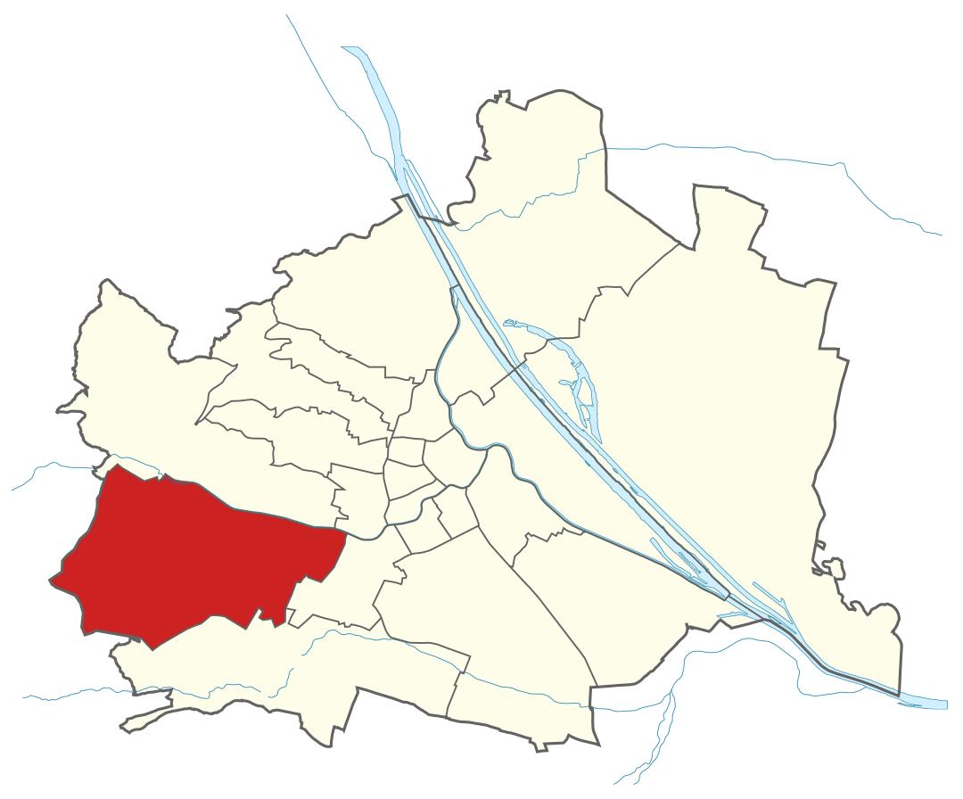 Karte von Wien mit Bezirken, Marschall - Ihr Immobilienmarkler für Luxuswohnungen in 1130 Wien Hietzing
