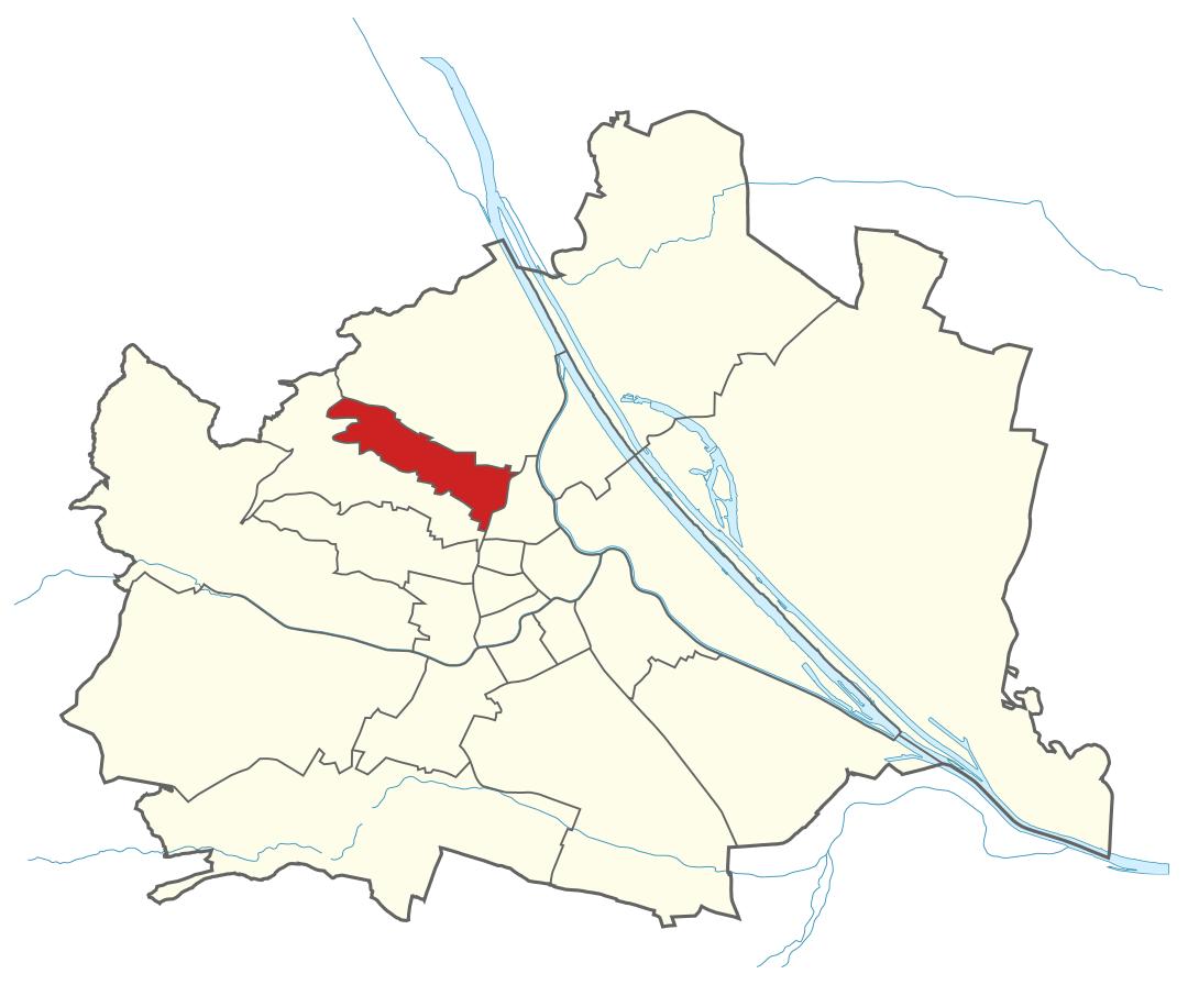 Karte von Wien mit Bezirken, Marschall - Ihr Immobilienmarkler für Luxuswohnungen in 1180 Wien Währing