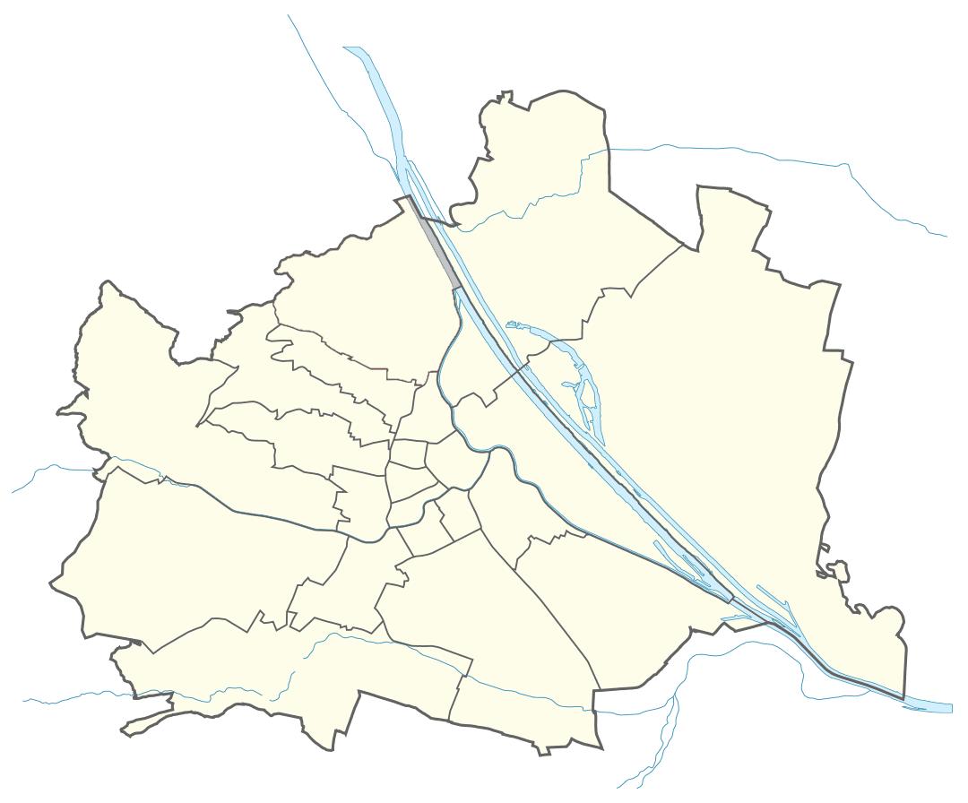 Karte von Wien mit Bezirken, Marschall - Ihr Immobilienmarkler für Luxuswohnungen & Penthäuser in Wien