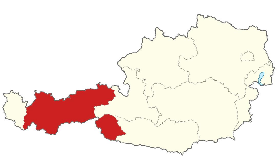 Karte von Tirol, Marschall - Ihr Immobilienmarkler für Luxusimmobilien in Österreich