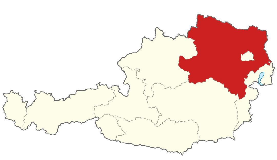 Kartenausschnitt von Niederösterreich